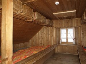 Schlafraum der 1947er Haupthütte
