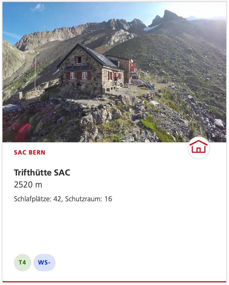 Trifthütte Zugang